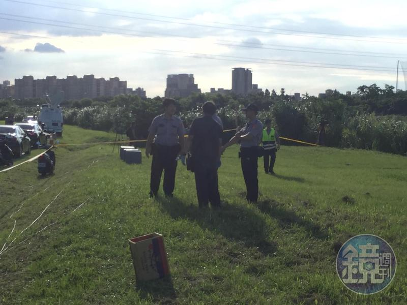 新北市永和區中正橋旁河堤驚見一具無頭男屍。