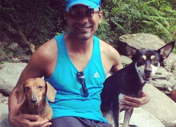 死者Ryan友人告訴警方,是Ryan的愛犬LuLu(黑色)帶路才找到死者的屍體。(翻攝自Ryan臉書)