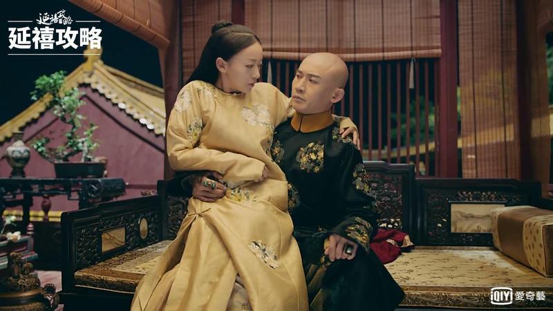 皇上和魏瓔珞《延禧攻略》對手戲火花四射,逗樂許多觀眾。(愛奇藝台灣站提供)