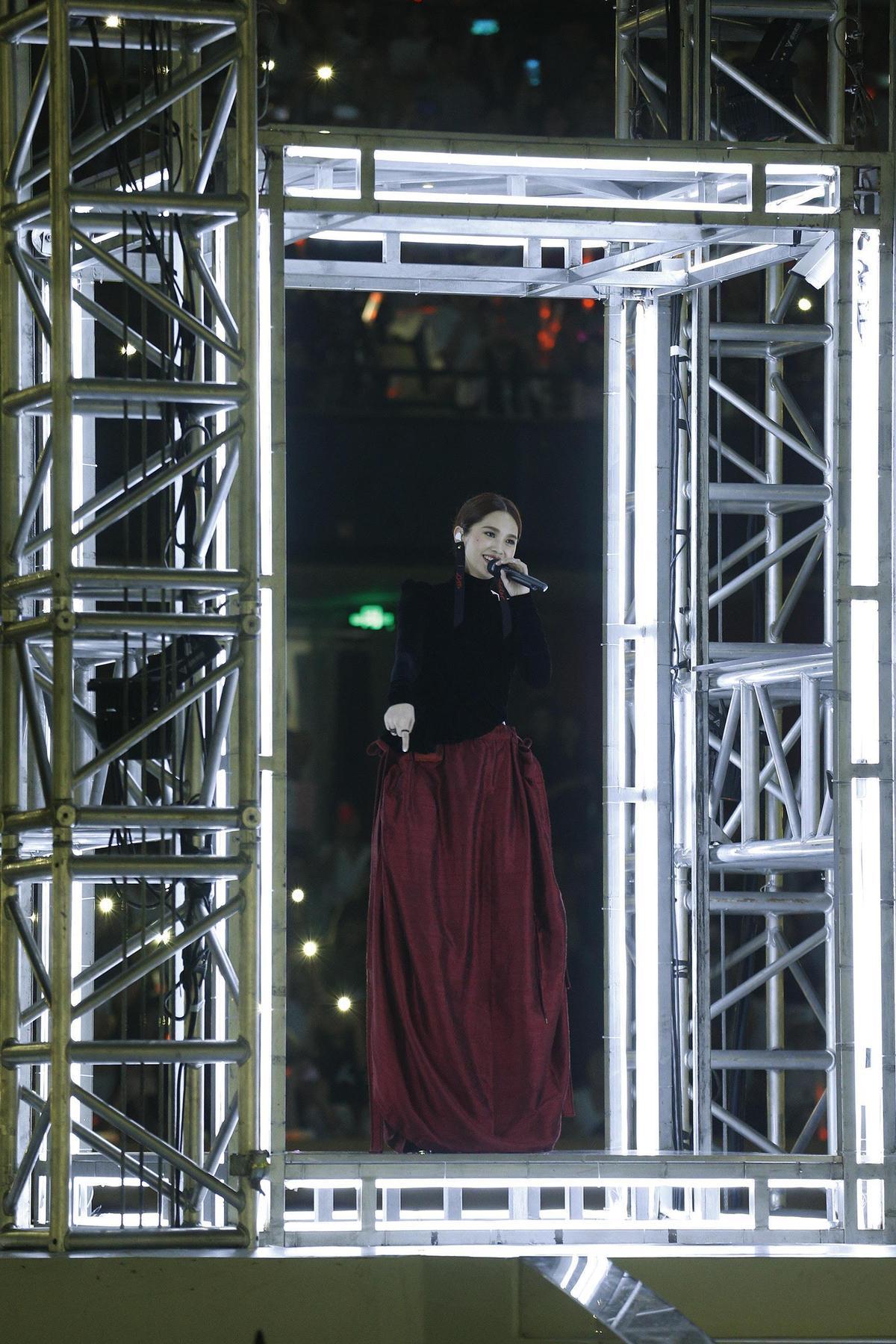 楊丞琳「青春住了誰」世界巡迴演唱會自台灣、香港、廣州、成都,今天來到第七場¬北京站,在凱迪拉克中心開唱。(台灣太陽娛樂有限公司提供)