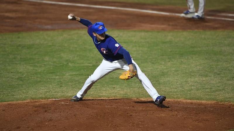 雅加達巨港亞軍棒球項目昨(26日)開打,以業餘球員為主力的台灣隊,由吳昇峰先發主投5局只失1分,是台灣隊能獲勝的重要功臣。(翻攝自網路)
