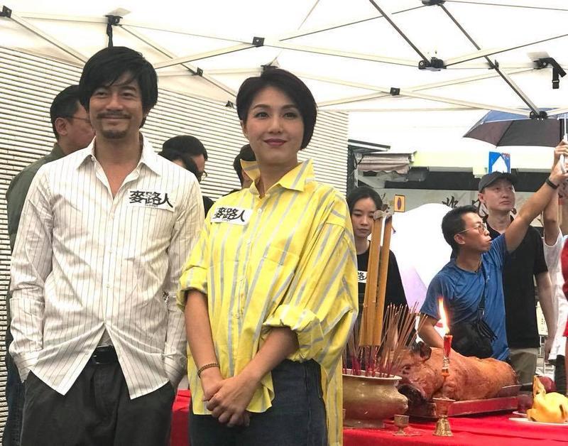 郭富城與楊千嬅昨(26日)出席香港電影《麥路人》開鏡記者會。(寰亞電影 Media Asia Film提供)