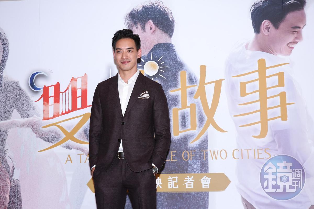 黃柏鈞為《雙城故事》首映會,特地從大陸劇組告假飛回台灣,他覺得戲裡的角色跟自己很像。
