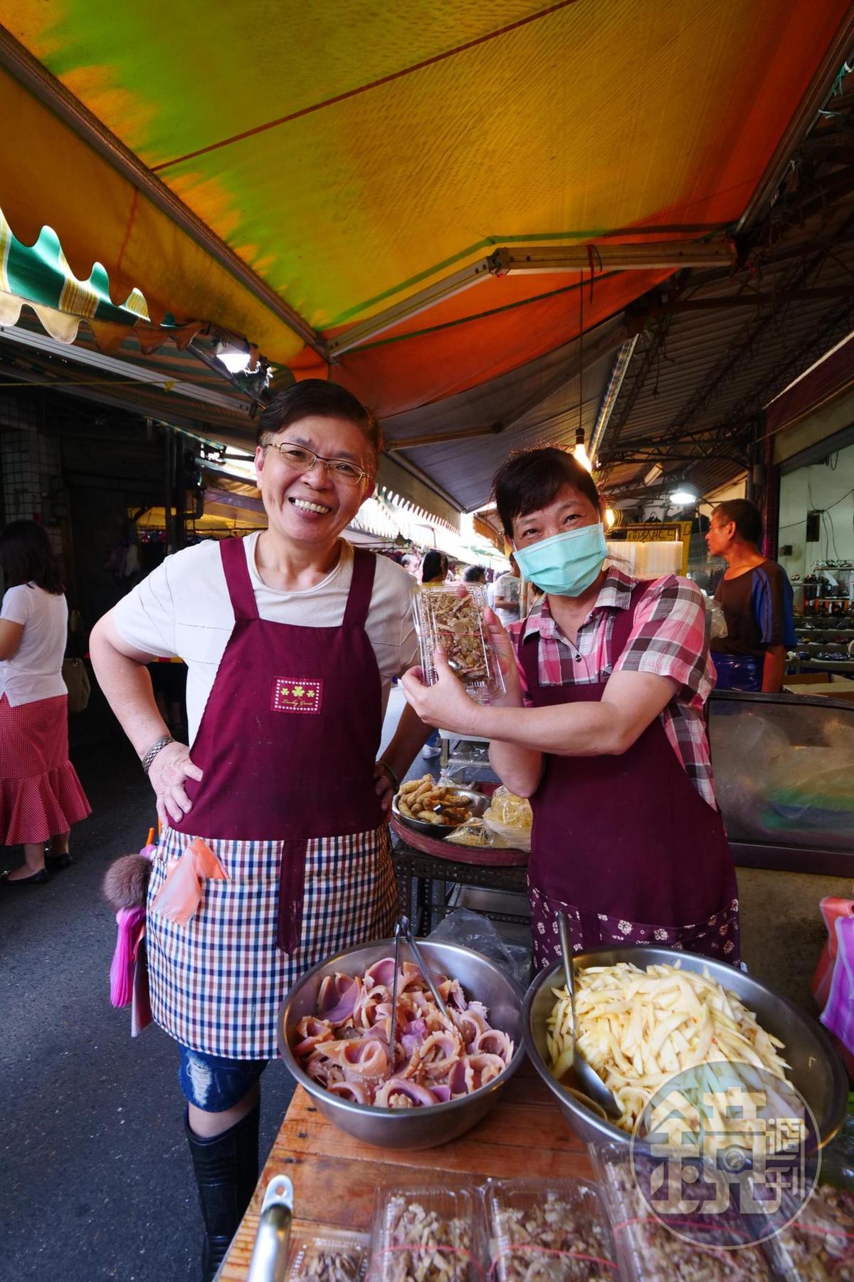 裕民街上賣芋粿、苦瓜、鯽魚等費工手工菜的熟食攤。
