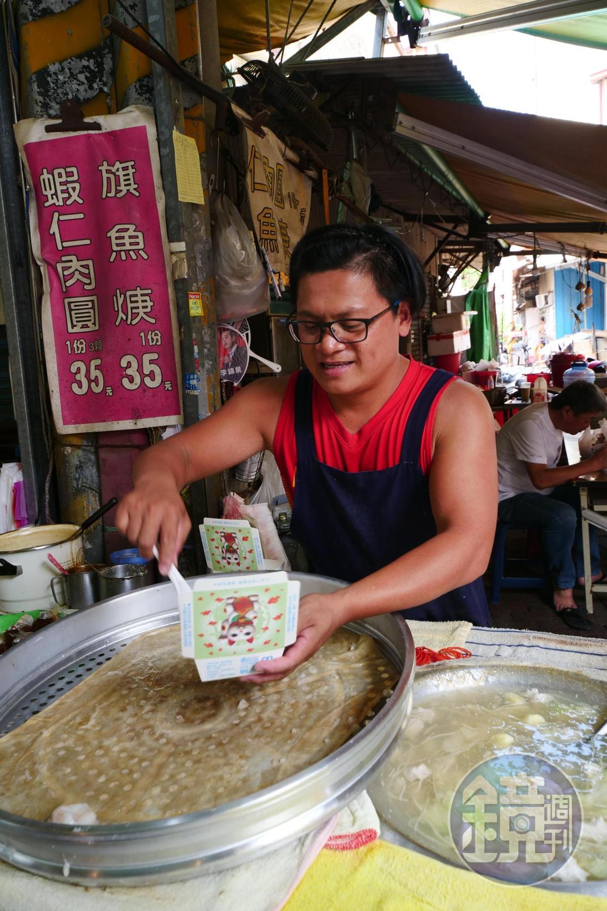 「彩鳳蝦仁肉圓」生意超好,經常不到中午就賣光。