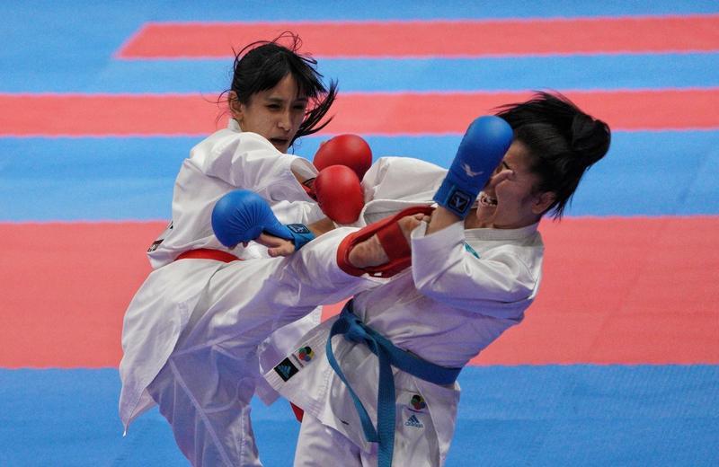 來自南投信義鄉的布農女孩谷筱霜,繼文姿云後,踢下第二面女子空手道金牌。(中華奧會提供)