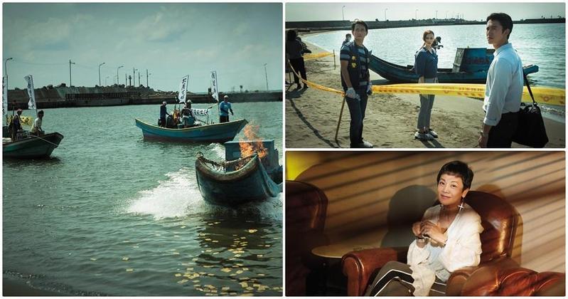 反對石化廠汙染的海上抗議場景獲得高雄當地漁會、居民等的協助。(左圖、右上圖為牽猴子提供)