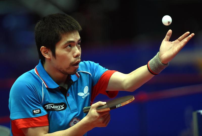 37歲莊智淵第6次參加亞運,率領桌球中華男團收下銅牌。圖為資料照。(東方IC)