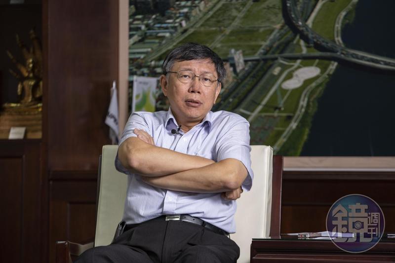 柯文哲直指加碼敬老金拖垮財政,「有些縣市為了騙選票,竟不惜讓台灣希臘化。」