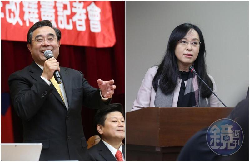 過去國民黨立委關沃暖及吳成典(左)、民進黨籍立委陳瑩(右)及王雪峰等人都曾被控詐領助理費遭調查。