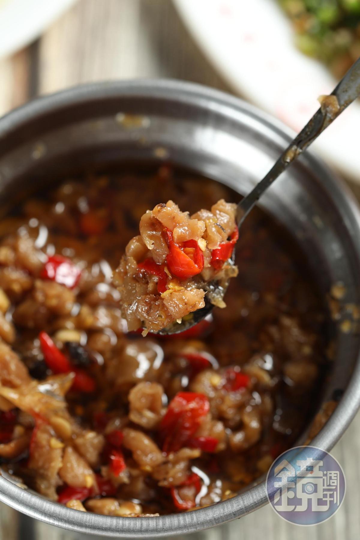 辣蘿蔔是自家炒,許多定居國外的熟客,最想念它。