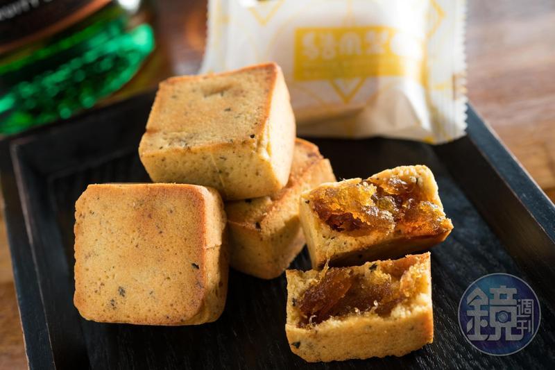 盈滿薑味、香茅和檸檬香氣的「馬告鳳梨酥」,皮薄嬌巧,適口不膩。(30元/單顆;380元/12入)