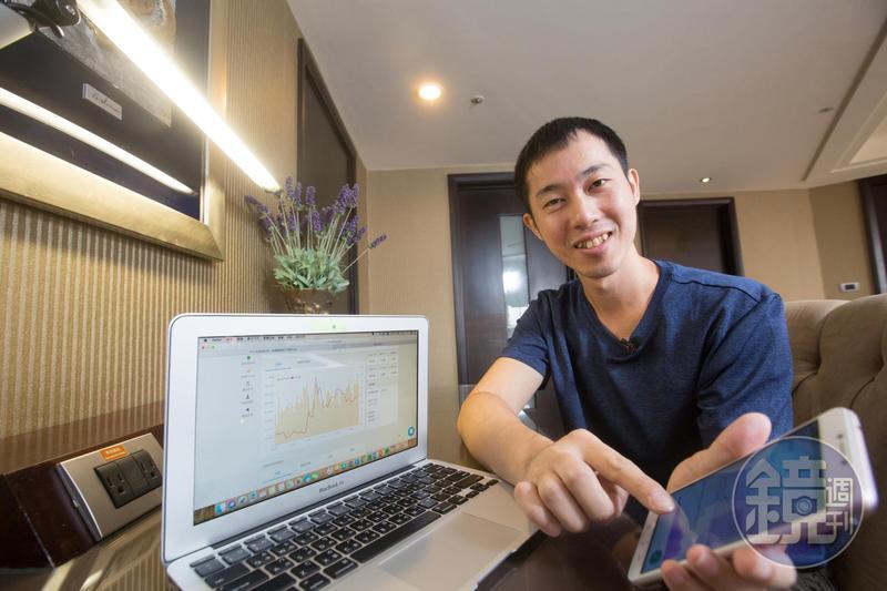 為了研究好公司,巫明帆勤讀財報,並將筆記存在雲端隨時檢閱。
