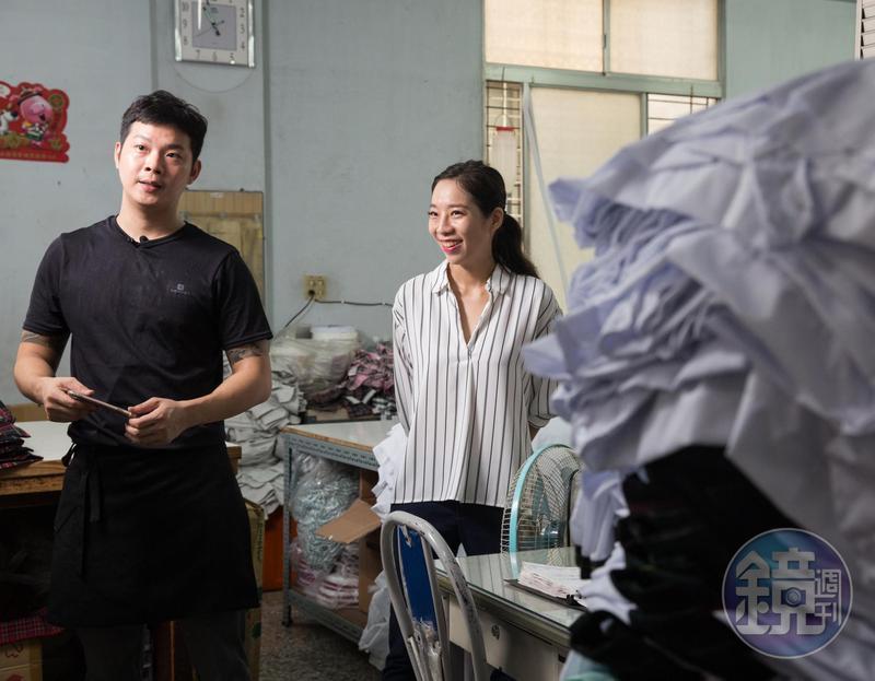 3年前,中美牌學生服第3代蔡旺達(左)、蔡佳霖(右)決定回家幫忙。