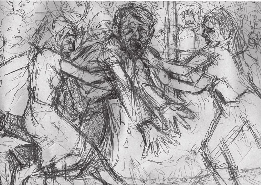 費爾為《眠月之山》繪製了一系列插畫,道盡當年尋子時種種心情轉折。(費爾提供)