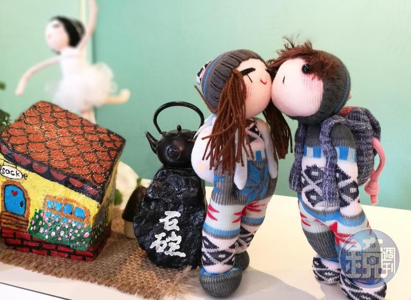 「HA SOCK」裡的每隻襪子娃娃,都是獨一無二的創作。