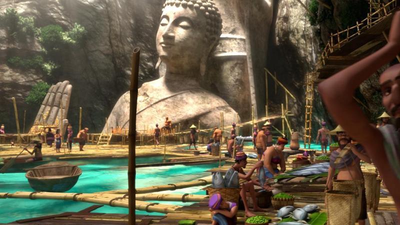 泰國南方被稱為「詹姆士龐德島」的攀牙灣也成了片中景點之一。(双喜提供)