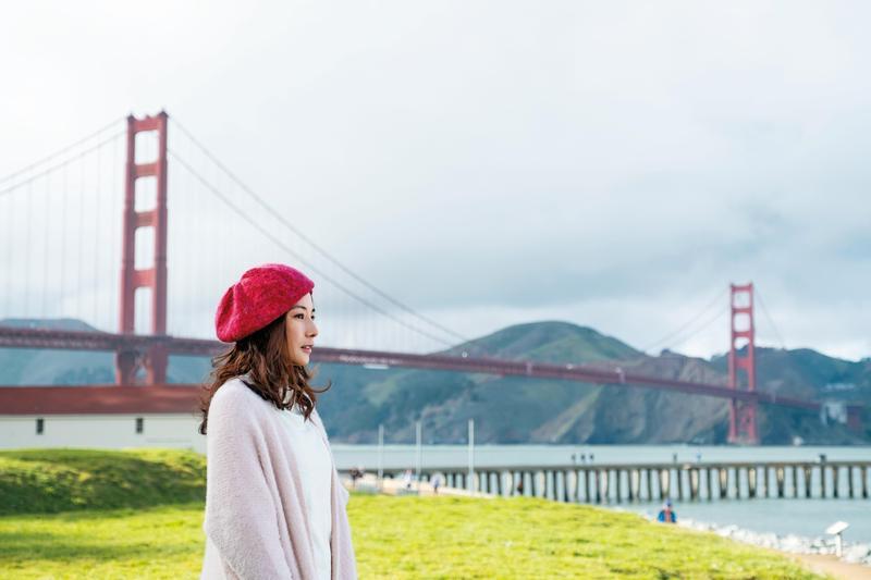 陳怡蓉在劇中遠赴舊金山尋夢,展開人生首次冒險。(青睞提供)