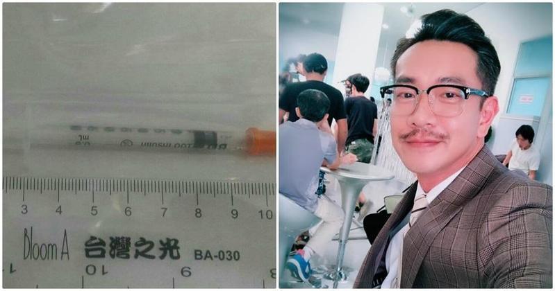 本土八點檔連續劇演員江俊翰二次吸毒遭逮。左圖為警方發現駕駛座旁的安非他命注射器。(翻攝畫面)
