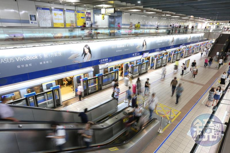 全球最宜居城市台北市在過去排行不斷進步,其中一項原因和發達的捷運網絡有關。