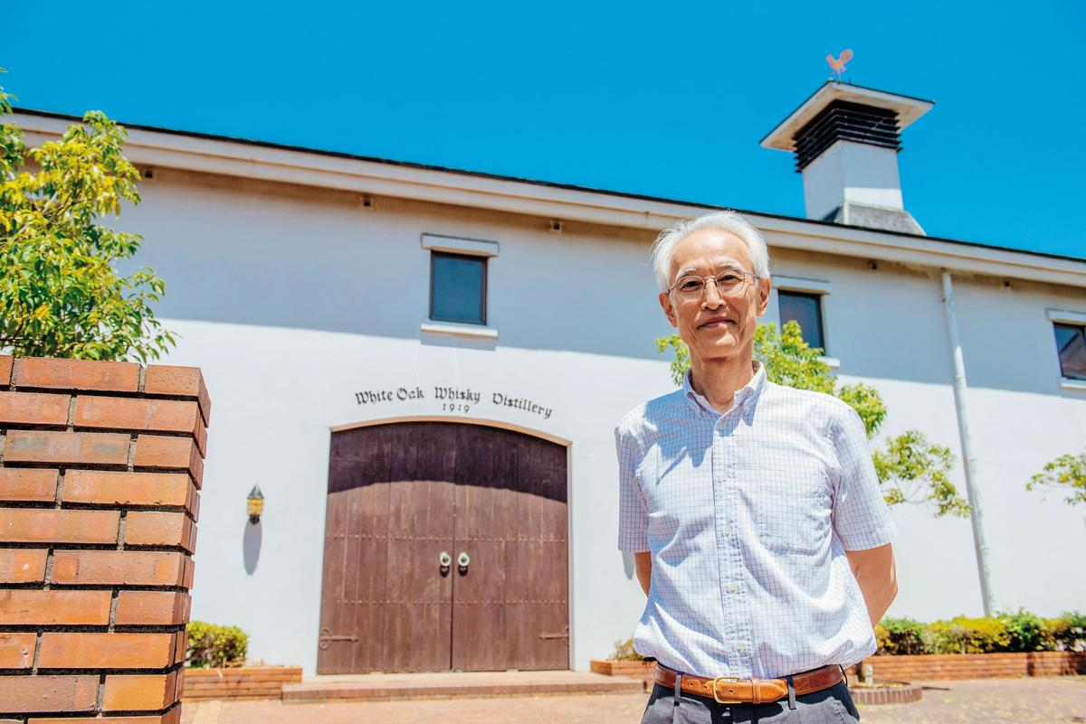 社長平石幹郎親口說,酒廠名字是White Oak白橡木,日文名也是從英文翻過去的。明石只是其中一款威士忌,江井島則是這裡的地名。