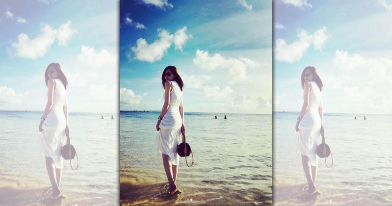 王心凌在IG上發了海邊度假的照片,一位粉絲開玩笑說「度假天后」,惹怒了她。(翻攝自王心凌IG)