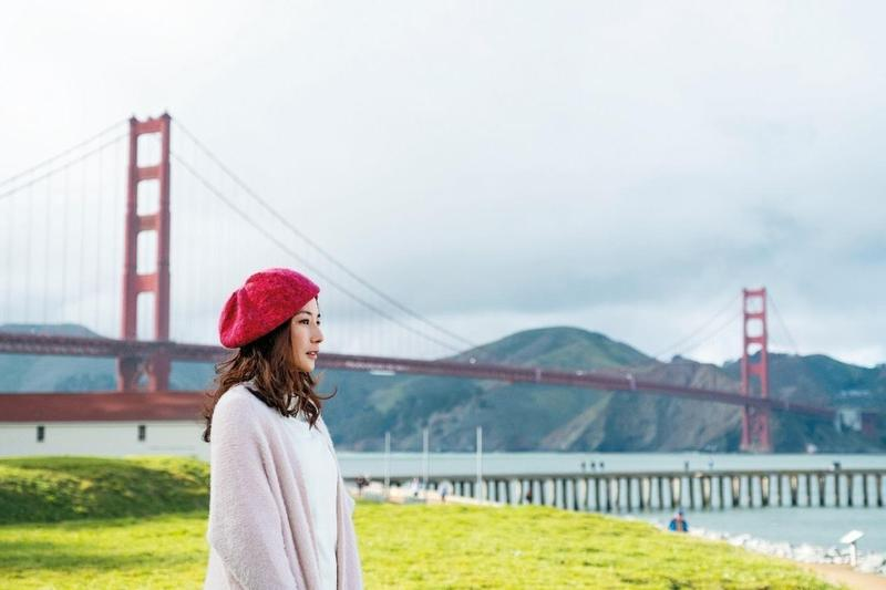 陳怡蓉在《雙城故事》劇中遠赴舊金山尋夢,展開人生首次冒險。(青睞提供)