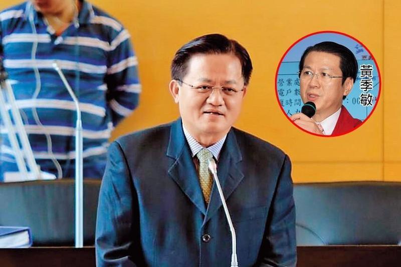 台中市消防局長蕭煥章曾任前消防署長黃季敏(小圖)的秘書、署長室科長,受其提拔。(大:翻攝臉書;小:中央社)
