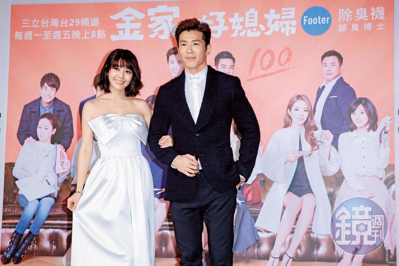 黃少棋(右)和俞惟中分道揚鑣後,和知名女藝人韓瑜(左)合拍《金家好媳婦》,近日創下收視佳績。