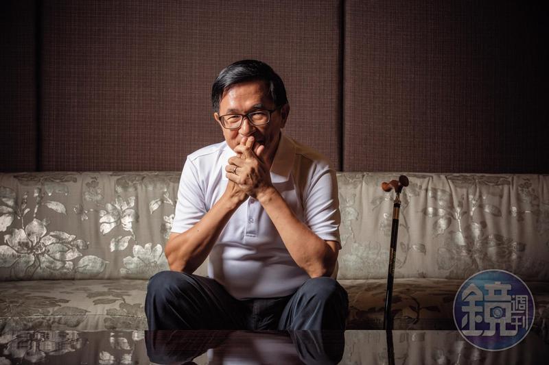 而今已68歲的陳水扁身體虛了,記憶力差了,但一談起時事與選舉仍精神奕奕。(讀者提供)