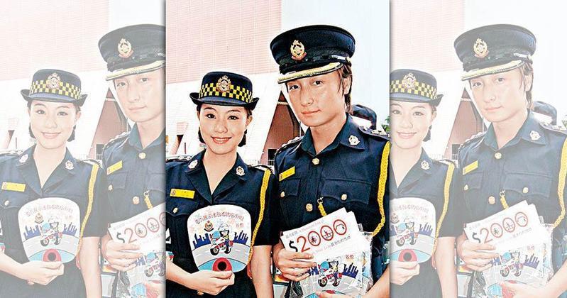 方力申(右)是鄧麗欣在港傳了10年的「金童玉女」戀情,但兩人公開分手、並且聲淚俱下。(東方IC)