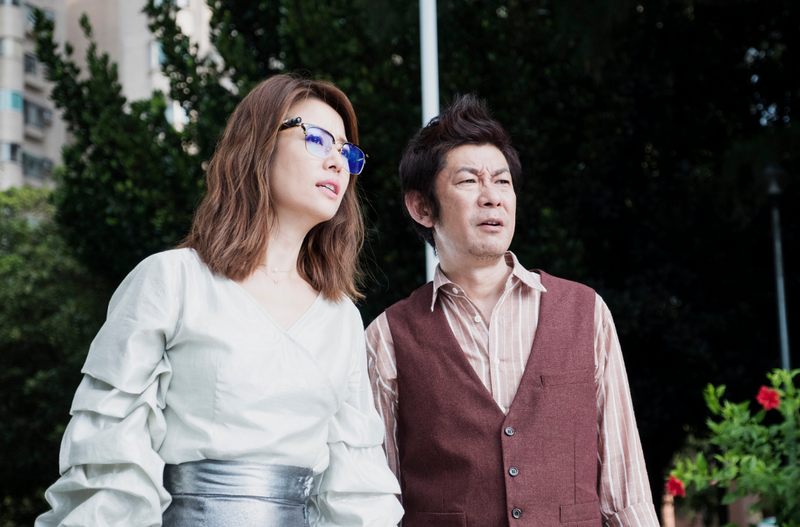 林心如在《RPG》與永瀨正敏有不少對手戲,她也笑稱戴著AR眼鏡演戲相當有趣。(犢影制作提供)