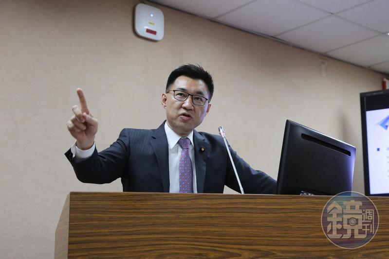國民黨團總召江啟臣(圖)質疑,張天欽在會中要求研究員找各國是否有類似侯友宜的案例,根本是要羅織罪名。
