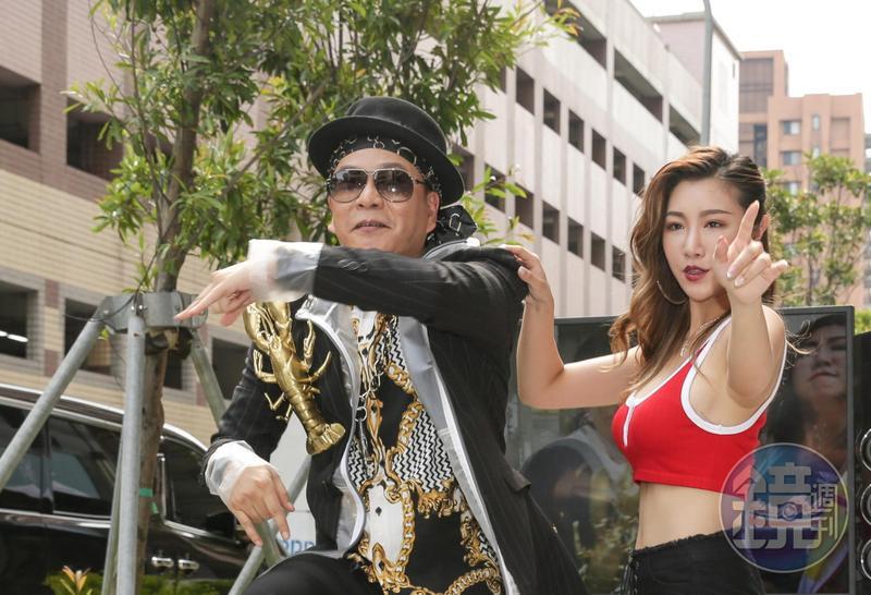 沈玉琳今天發行第二首個人單曲,揚言如果MV點擊率破千萬,就要去跳基隆港。