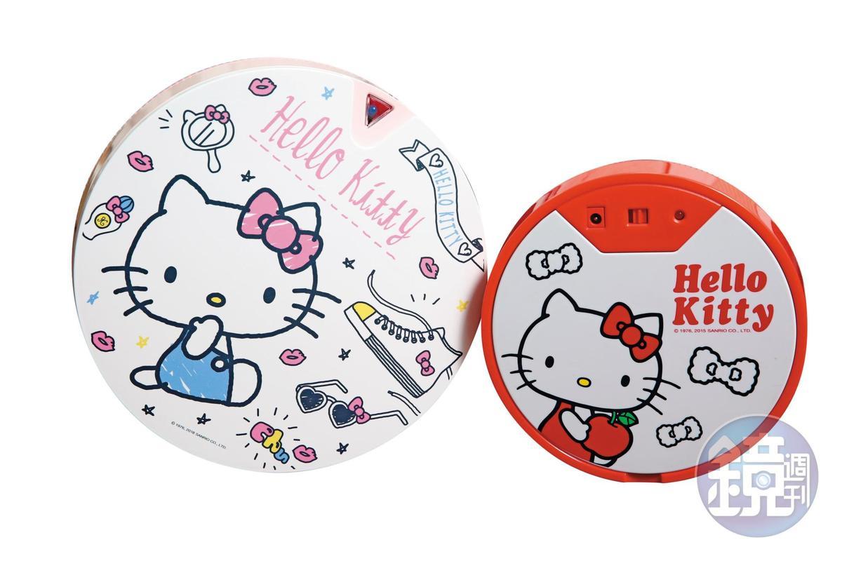 今年松騰與三麗鷗合作,推出Hello Kitty版限量掃地機器人Vbot,造型可愛。(左4,280元/台,右2,390元/台)