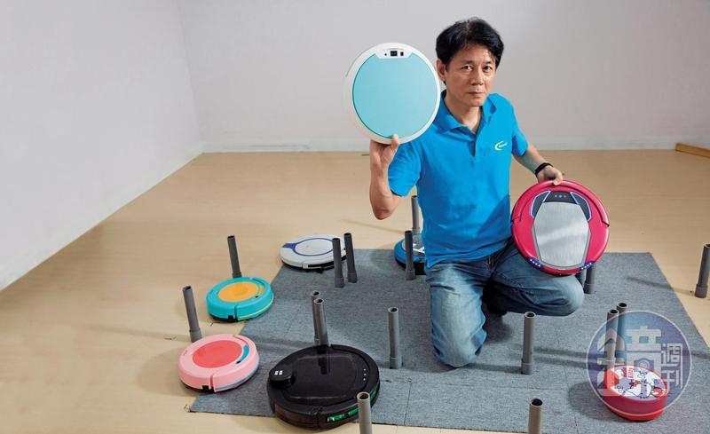 燕成祥創立松騰,從5人小公司起家,如今是全球第2大掃地機品牌。