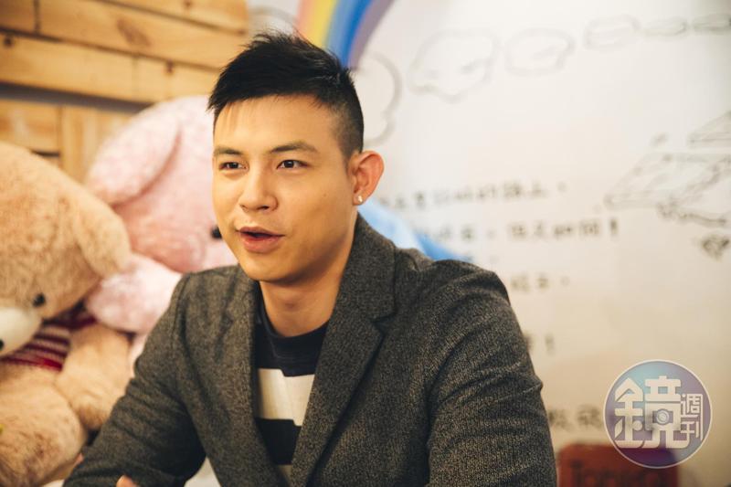 趙勁皓有意來移民台灣,在這邊開他最在意的健身房生意。