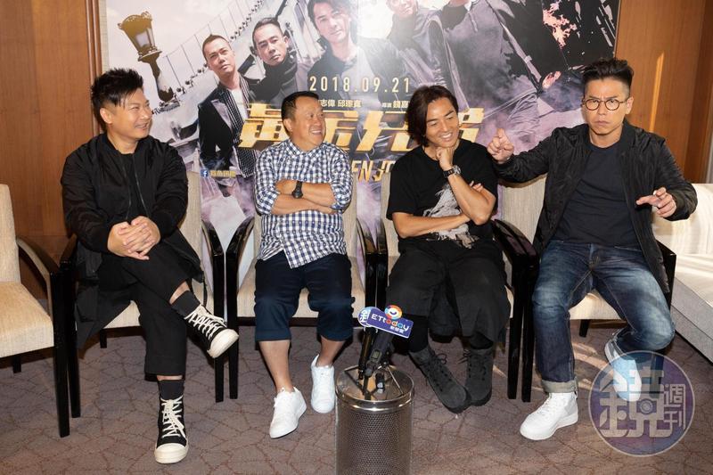 林曉峰模仿陳小春拍戲時原本害怕得要命,一開拍就演出一副英勇模樣,虧他「很會演」。