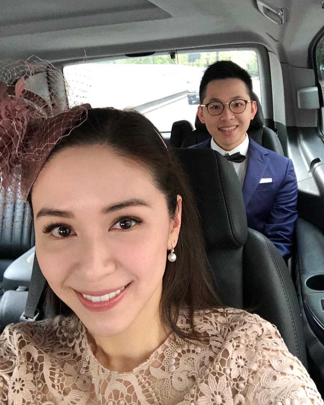 連勝文妻子蔡依珊也在IG上發文,表示正要去參加連詠心婚禮。(蔡依珊IG)
