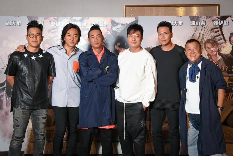 電影《黃金兄弟》15日舉行媒體餐敘,片中角色全部到齊。(寬魚國際提供)