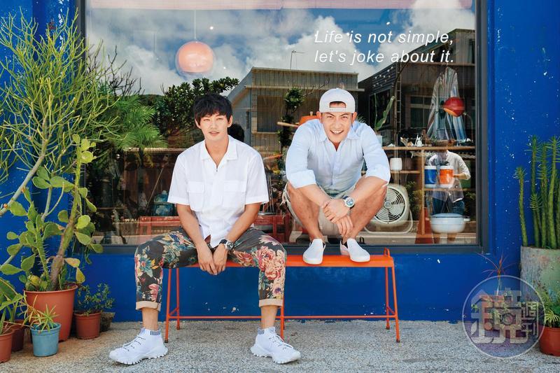 趙駿亞(右)經常約威廉去個性小店,也常交流運動或環保話題。