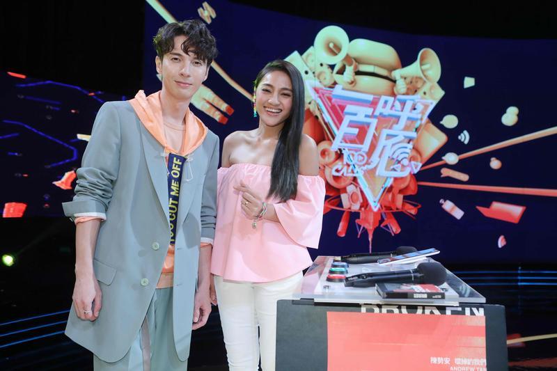 陳勢安感謝師妹葉瑋庭,她不僅帶來好運,還頻頻在節目中幫他的新專輯打歌。(公視提供)