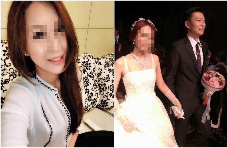 王盈凱的臉書封面,放著他與妻子手牽手在婚禮走紅毯的合照。(翻攝王盈凱、王盈凱妻子臉書)
