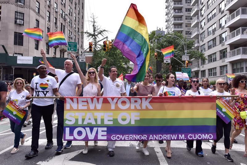 圖為2018年紐約舉行第49屆LGBT遊行。(東方IC)