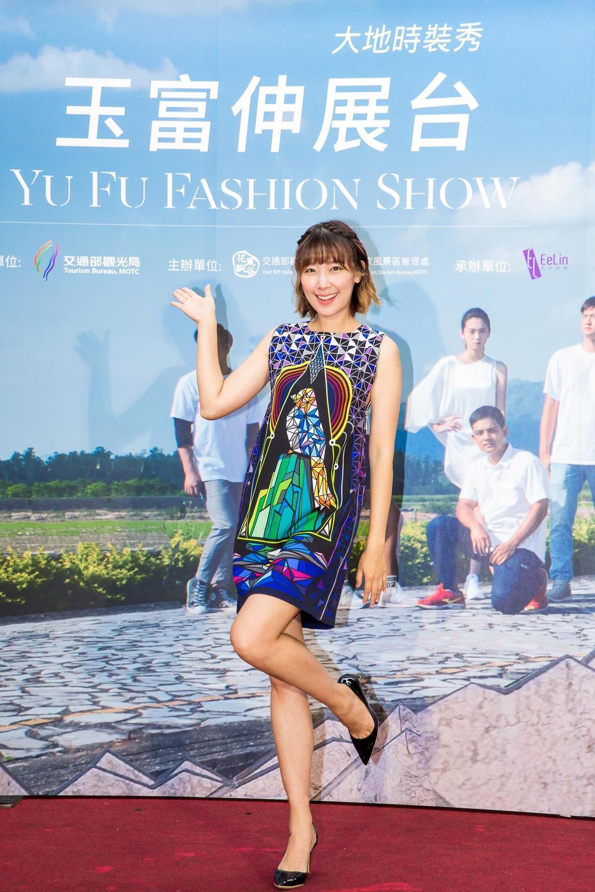 藝人李懿擔任形象大使為了拍攝宣傳片,刻意減肥不敢吃太多。(伊林提供)