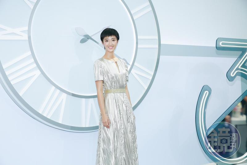 桂綸鎂為保養品擔任代言人,她特地從武漢飛回台灣出席活動。