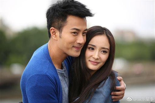 劉愷威(左)、楊冪的甜蜜愛情,也成為過去式。(翻攝自楊冪微博)