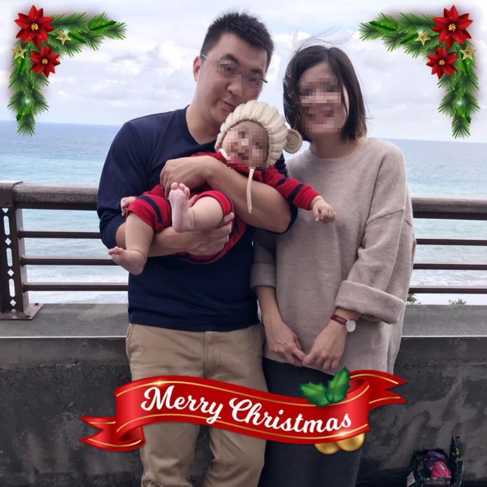蔡姓消防員2年前才與妻子結婚生下一個一歲多的小寶寶,如今卻一個火警意外殉職,讓人不勝唏噓。(警消提供)