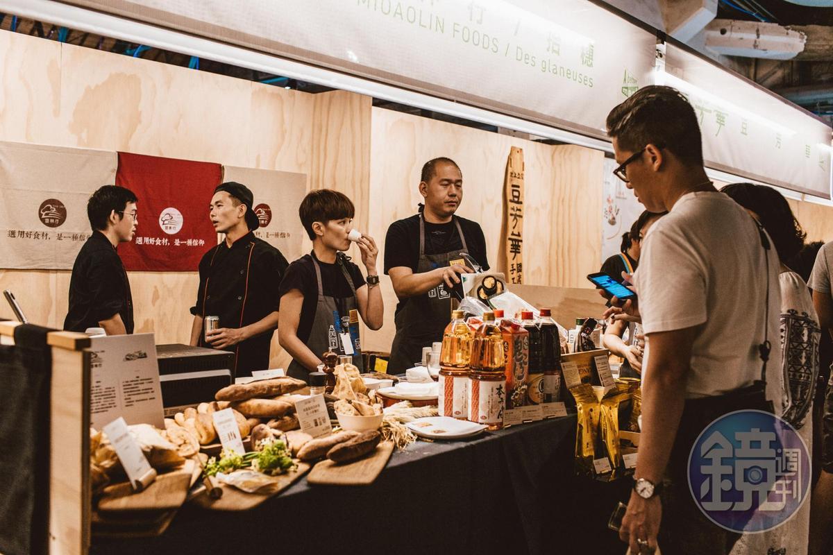 食材商「苗林行」櫃位,提供「柴魚煎茶昆布湯泡飯」。(Jeek's Foodmaze提供)