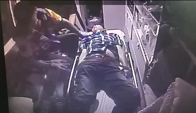 45歲的死者黃男遭兒子開槍誤轟下體傷重不治。(警方提供)
